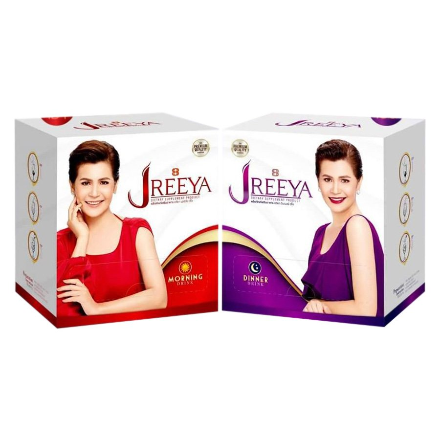 JReeya Set Dietary Supplement For Beauty Skin Anti Aging Strong Health Morning &  Dinner Drink