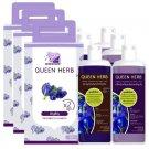 Premium Butterfly Treatment Loss Hair Pea Long Hair Shampoo Set Care Queen Herb (Pack of 3)