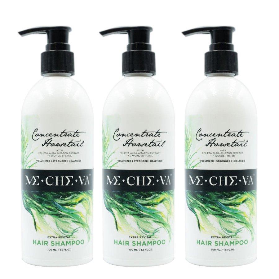 Horsetail Hair-Fall Revital Hair-Loss Herbs Me-Che-Va Shampoo Shampoo Mixed Extra 300ml (Pack of 3)