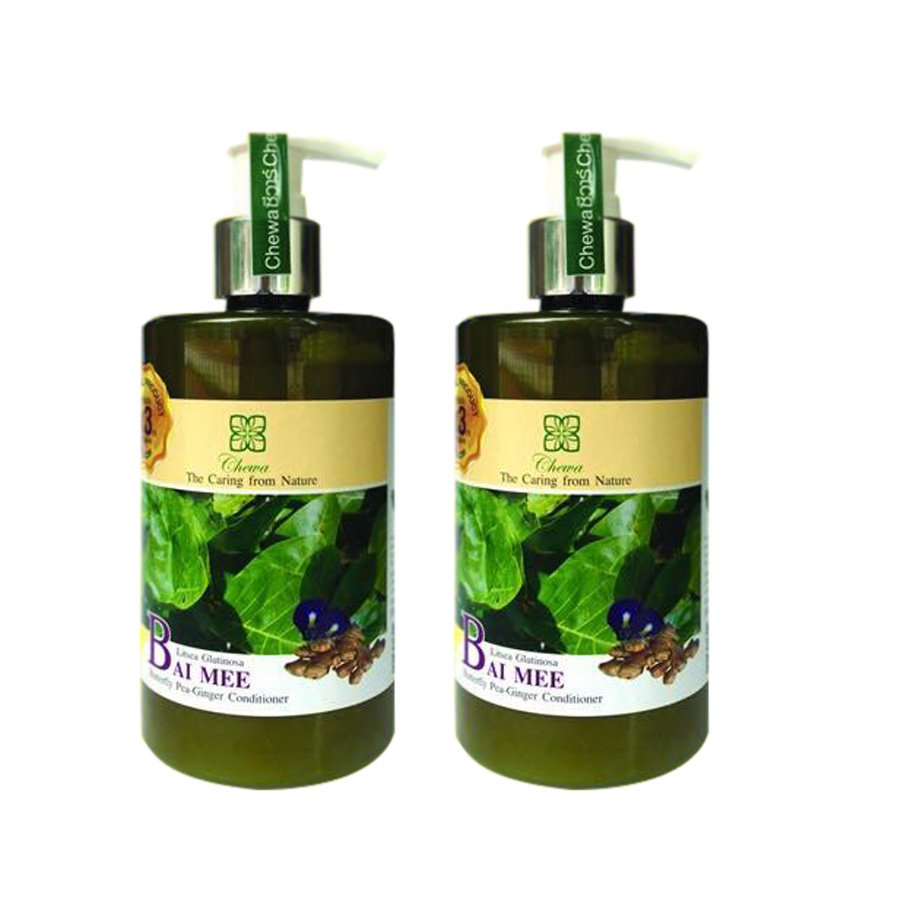 THIN-HAIR BAI MEE BUTTERFLY PEA GINGER HAIR ROOT CONDITIONER HAIR LOSS 300ML CHEWA (PACK OF 2)