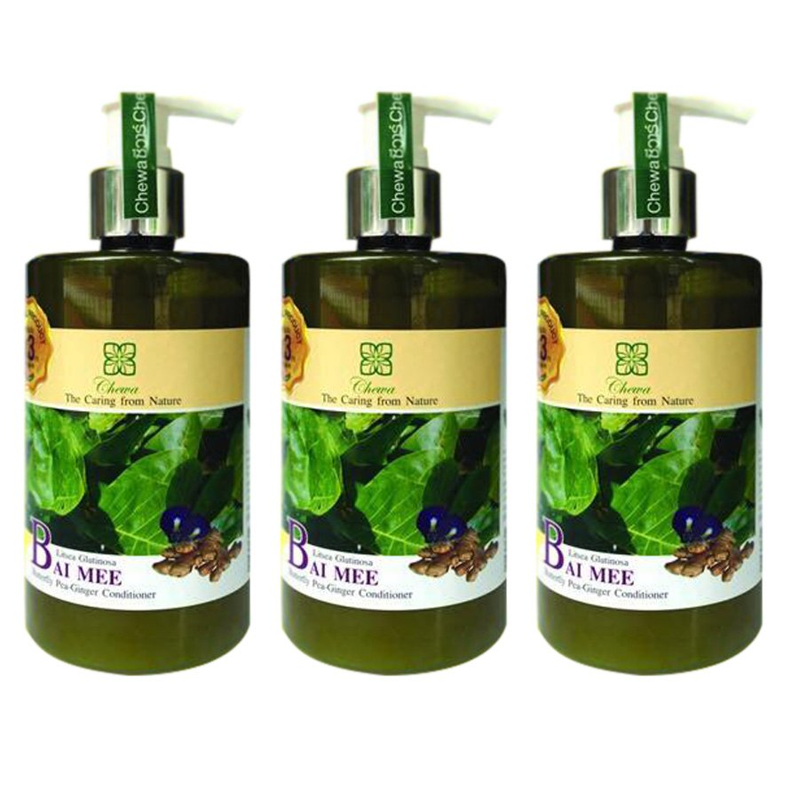 THIN-HAIR HAIR LOSS CHEWA BUTTERFLY PEA CONDITIONER GINGER BAI MEE 300ML HAIR ROOT (PACK OF 3)