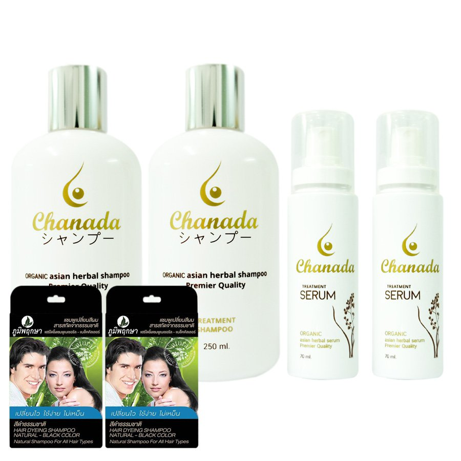 HERBAL HAIR LOSS REGROW SERUM SHAMPOO CHANADA ORGANIC REGROWTH BREAST FEEDING WOMEN (PACK OF 2)