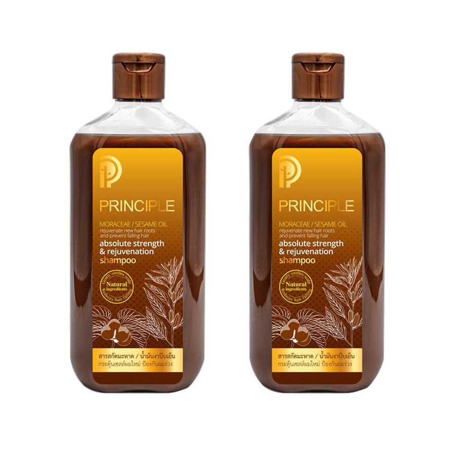 NATURAL ABSOLUTE STRENGTH & REJUVENATION MAHAD 300ML. HERBAL SHAMPOO NEW HAIR PRINCIPLE (PACK OF 2)