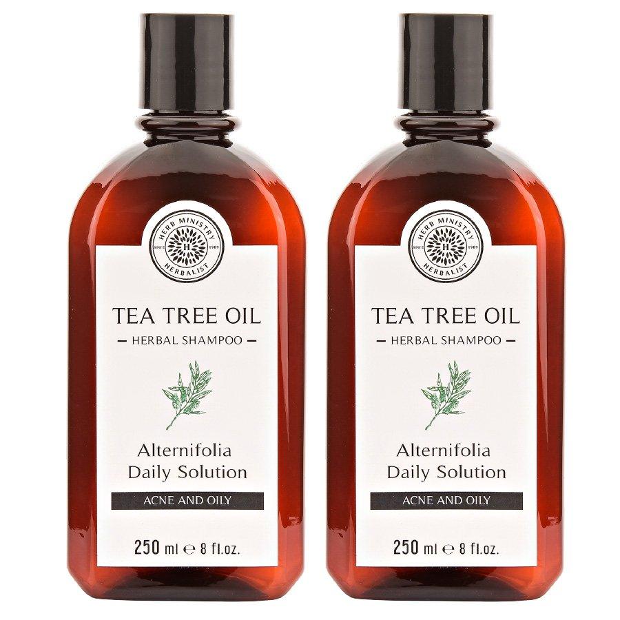 HERB MINISTRY TEA TREE OIL HERBAL SHAMPOO 250ML. NOURISH HEAD HAIR CARE OIL CONTROL (PACK OF 2)