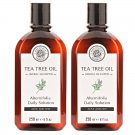 HERB MINISTRY TEA TREE OIL HERBAL SHAMPOO 250ML. NOURISH HEAD HAIR CARE OIL CONTROL (PACK OF 2)