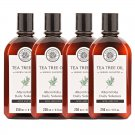HERB MINISTRY TEA TREE OIL HERBAL SHAMPOO 250ML. NOURISH HEAD HAIR CARE OIL CONTROL (PACK OF 4)