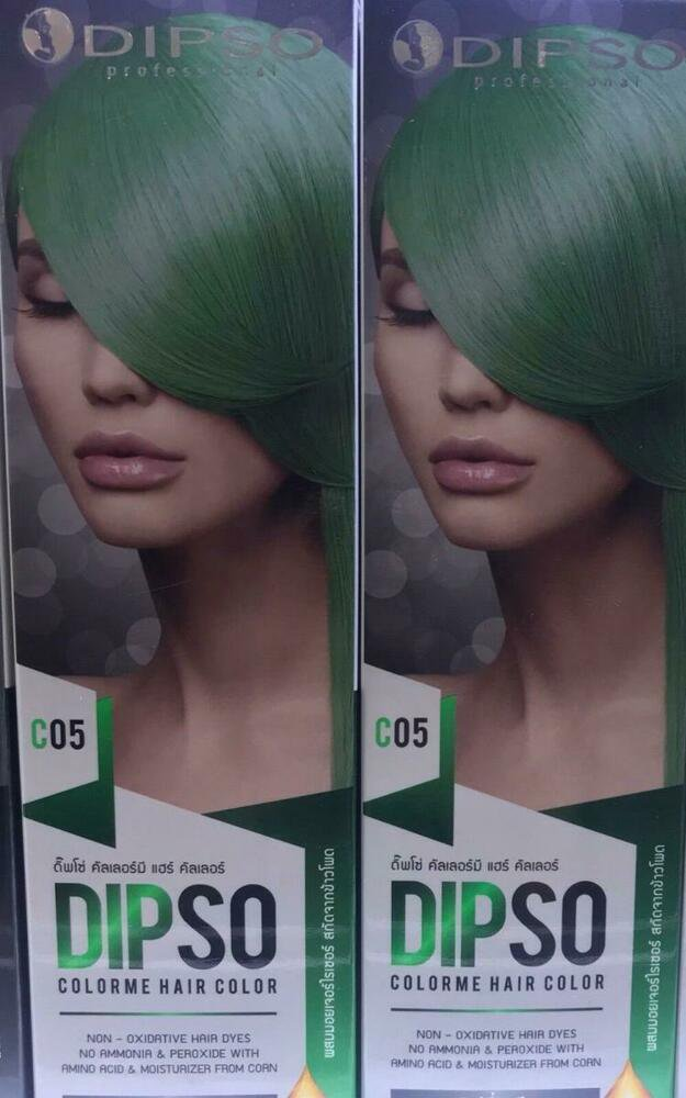 C05 Lovely Green DIPSO Professional Colorme hair color 6 Pastel ammon