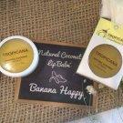 Banana Happy Tropicana Natural Lip Balm Coconut Antioxidant 5 Scents