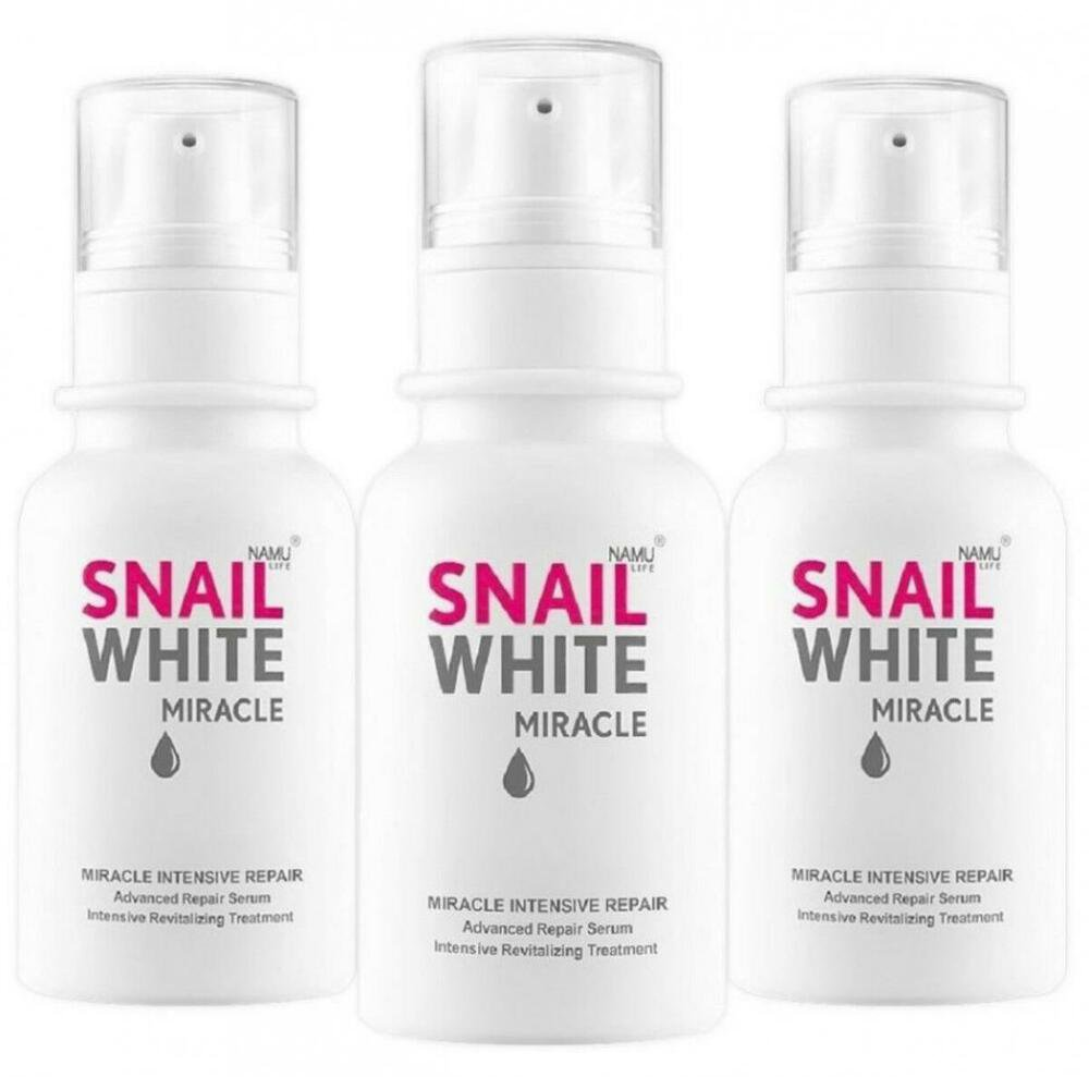 3X Snail White Miracle intensive repair Advanced Serum Revitalizing Namu