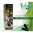 Facial Mask Bamboo Charcoal Natural Herbal Bio Way Black Heads Pimple