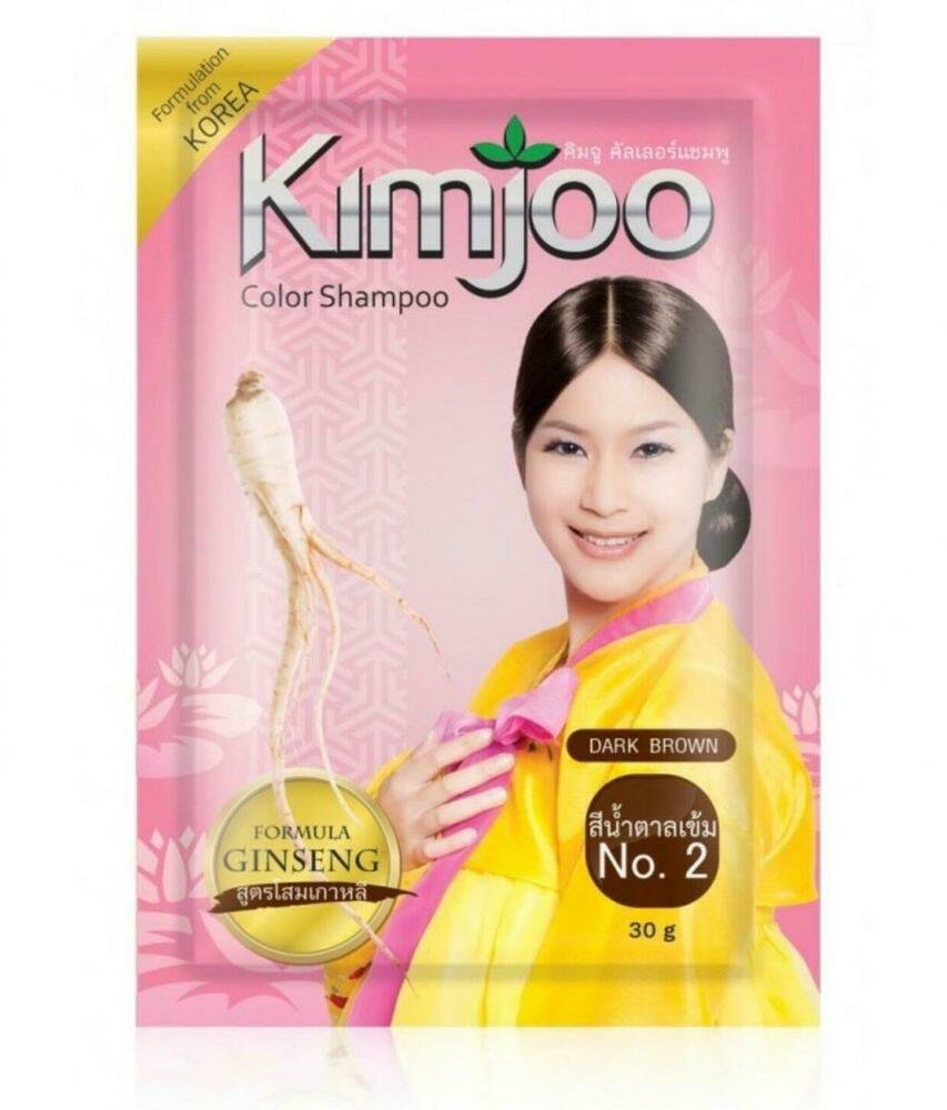 No2 Dark Brown 12 Kimjoo Hair Color Change Shampoo With Ginseng Ex