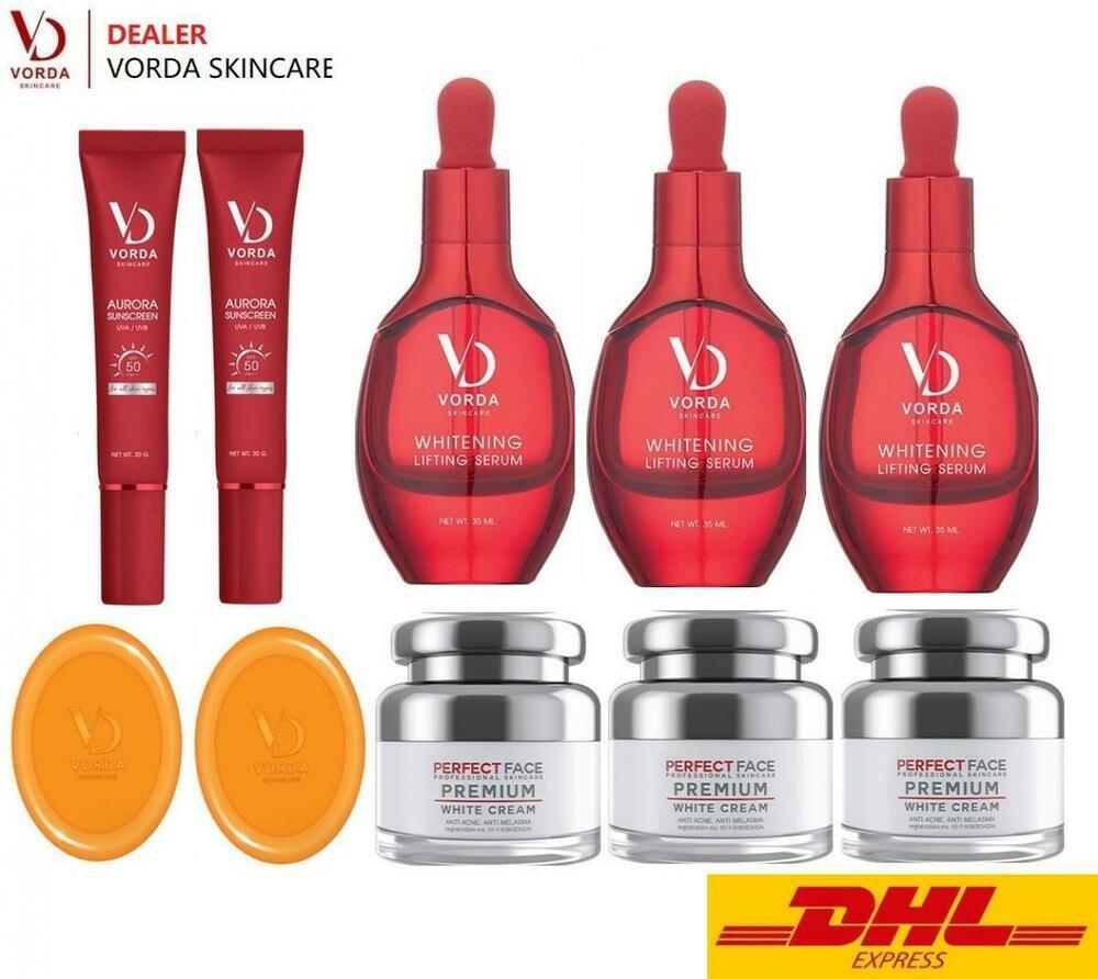 10X VORDA Skincare Whitening Lifting Serum Cream Soap Sunscreen AntiAgin