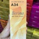 A34 Light Golden Blonde Berina Permanent Hair Colors Cream A1-A47 Sty