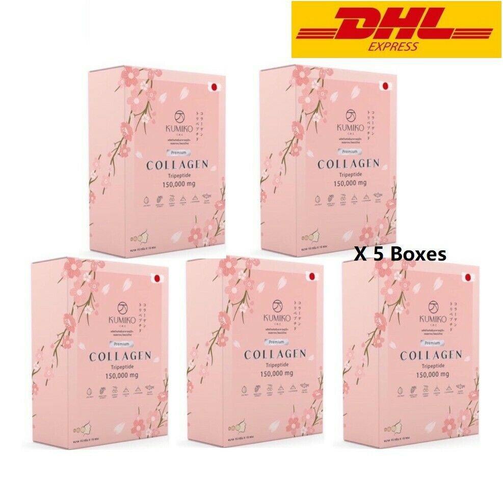 5X KUMIKO Collagen Premium 150000 mg brighten skin Fruit Extract Anti
