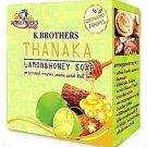 5 x Thailand K.Brothers Thanaka Lemon &Honey Whitening Soap 60g.