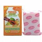 3 x   Papaya Honey Cream SOAP 3X Moisture GLUTATHIONE Extract f