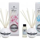 BATH and BLOOM Hibiscus and Jasmine Reed Diffuser Oil Set.