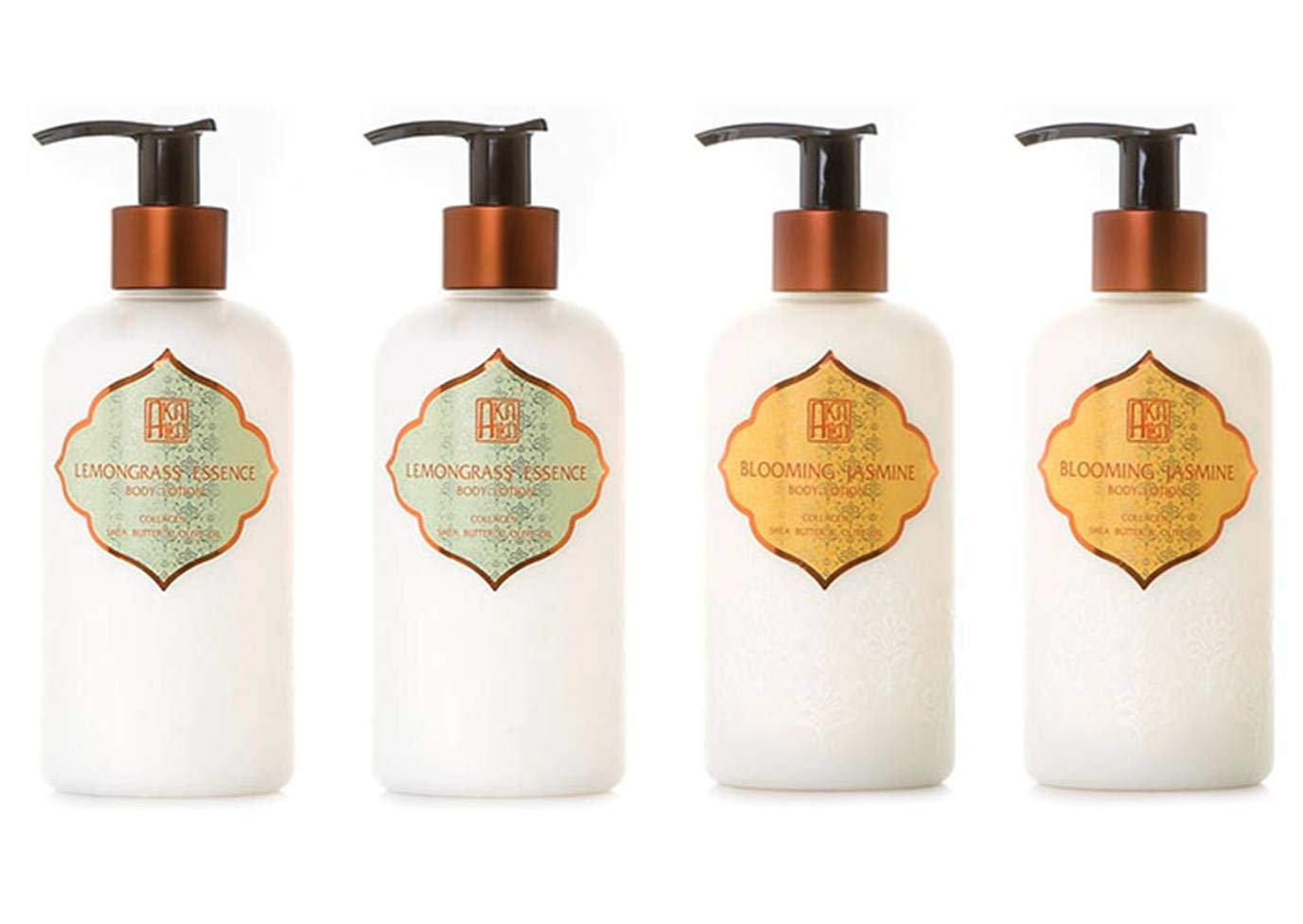 AKALIKO Lemongrass Essence and Blooming Jasmine Body Lotion Set - wit