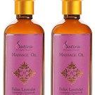 SATIRA Lavender Massage Oil with Lavender Tea Tree and Grapefruit Oil