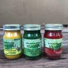 Thai Organic Herbal Cheraim GreenRedYellow Balm Relieve body aches 65