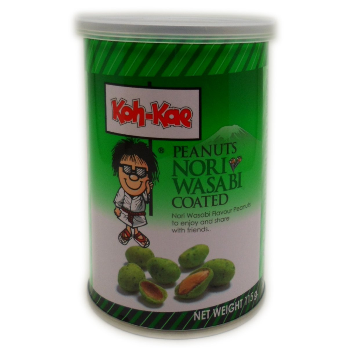 Koh-kae Snack Peanut Nori Wasabi Flavour Coated 115 G (4.06 Oz) X
