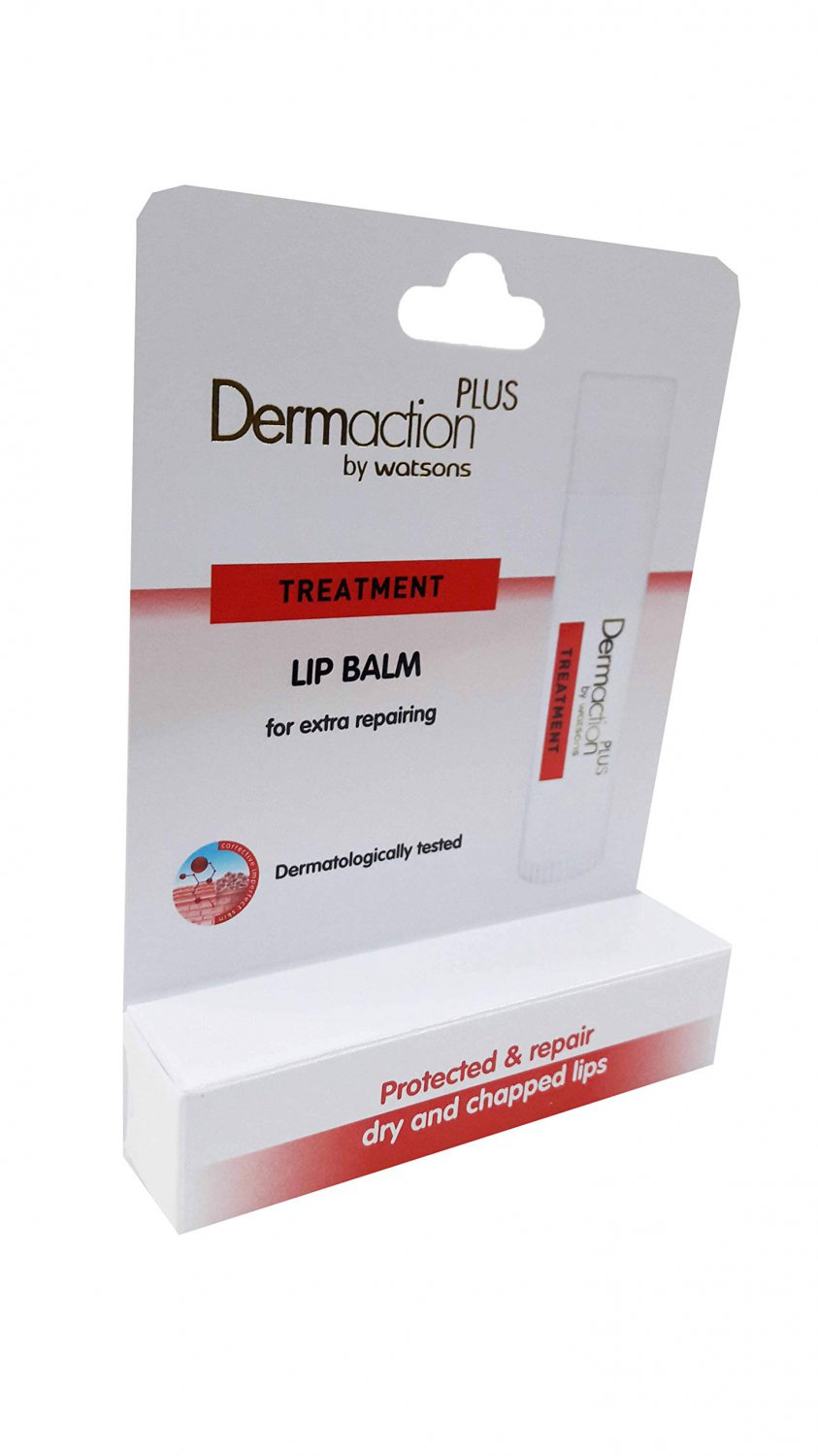 2 Packs of Dermaction Plus by Watsons Treatment Lip Balm. Protected