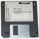 "1994 Genuine Microsoft MS-DOS 6.22 on 3.5"" floppy disks"