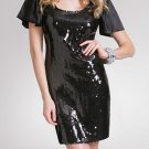 ArdenB. Silk Sequin Mini Black Dress Size XS NEW NWT
