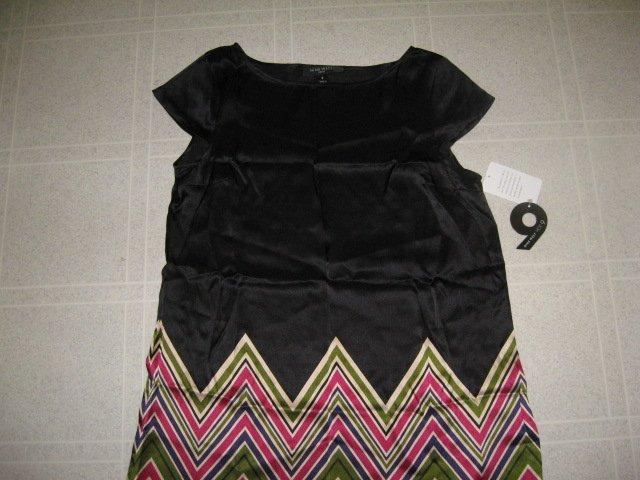 NWT New Black Silk Dress by Nine West Size 8 (44)