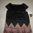 NWT New Black Silk Dress by Nine West Size 8 (44)