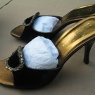 Donald Pliner Nervo Slide Sandal Shoes Black Velvet NEW in box