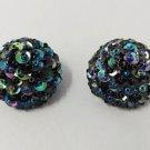 1960s Vintage Ball Earrings Clips Disco
