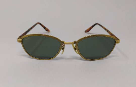 1990s Rare Original Astonishing Ray Ban by Bausch and Lomb. Model Sidestreet Metal Tea Cup