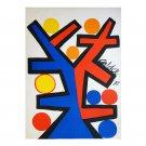 "Original Astonishing Calder ""Asymmetry"" Lithograph 1972"