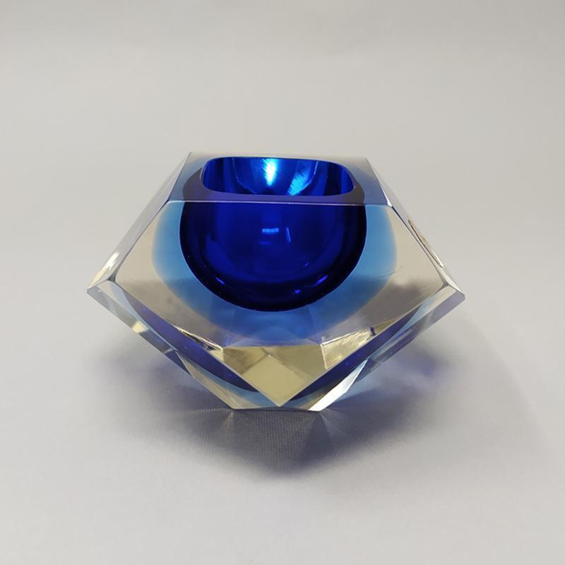 1960s Big Blue Ashtray or Vide Poche Designed by Flavio Poli for Seguso