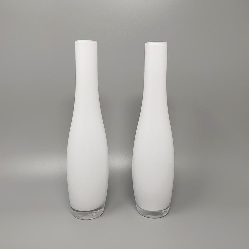 1970s Stunning Pair of Vases by Dogi in Murano Glass. Made in Italy