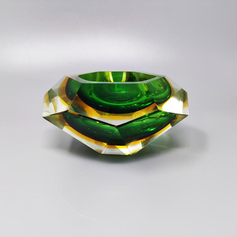 1960s Gorgeous Green Ashtray or Catch-All By Flavio Poli for Seguso