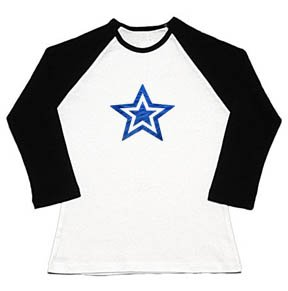 Blue Double Star Raglan