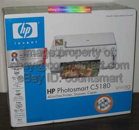 NEW HP PhotoSmart C5180 All-In-One Printer Copy Scanner +FREE USB