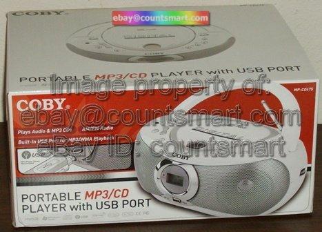 NEW Coby MP-CD475 Portable CD MP3 Player AM/FM radio + USB port