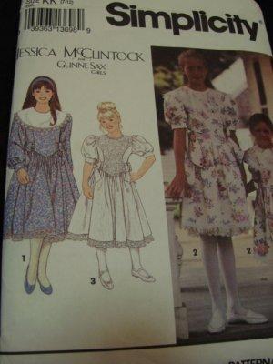 Sewing Pattern Girls Fancy Dress Gunne Sax 7-12 NEW