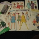 Sewing Pattern Girls Vintage 60s 70s Mod LOT 6