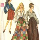Sewing Pattern Vintage 60s Bell Bottom Pants Blouse B38