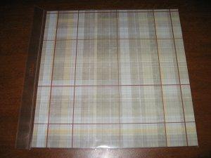 Scrapbook Paper Brown Plaid