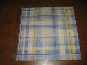 Scrapbook Paper blue plaid