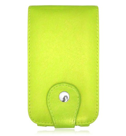 Apple iPhone Green Leather Case - M Series
