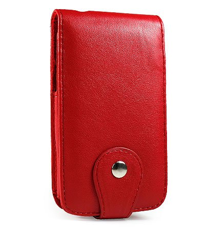 Apple iPhone Red Leather Case - M Series