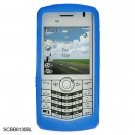 Silicone Skin Cover Case for BlackBerry 8130 Pearl - Blue