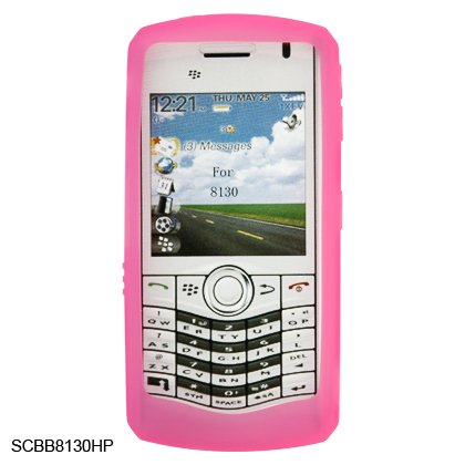 Silicone Skin Cover Case for BlackBerry 8130 Pearl - Pink