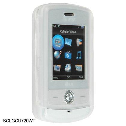 Silicone Skin Cover Case for LG Shine CU720 - White